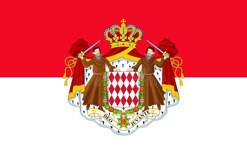 σημαία Μονακό ελεύθερη απεικόνιση δικαιώματος