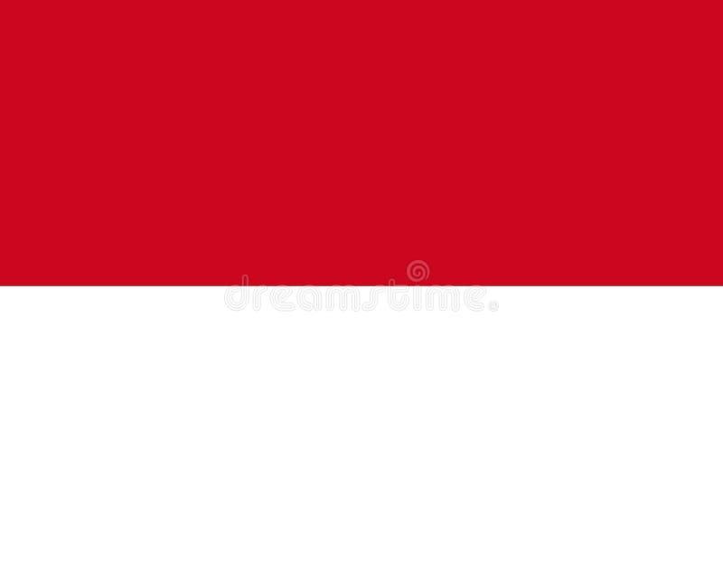 σημαία Μονακό διανυσματική απεικόνιση