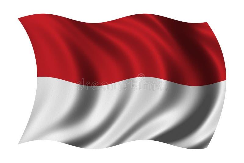 σημαία Μονακό απεικόνιση αποθεμάτων
