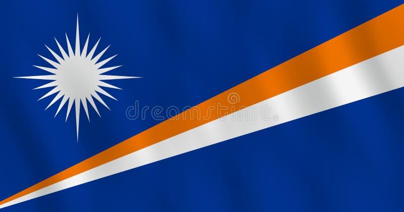 Σημαία Νησιών Μάρσαλ με την επίδραση κυματισμού, επίσημη αναλογία ελεύθερη απεικόνιση δικαιώματος