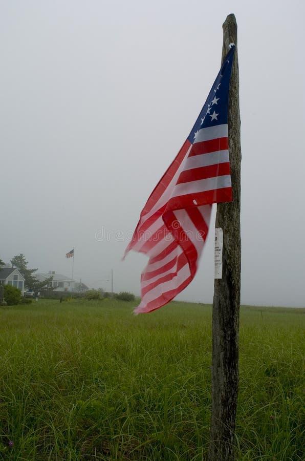 σημαία ομιχλώδης στοκ εικόνες