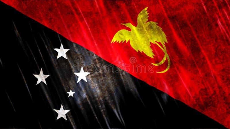 Σημαία Παπούα Νέα Γουϊνέα διανυσματική απεικόνιση