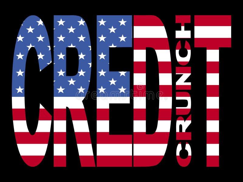 σημαία πιστωτικής κρίσιμη&sigma απεικόνιση αποθεμάτων