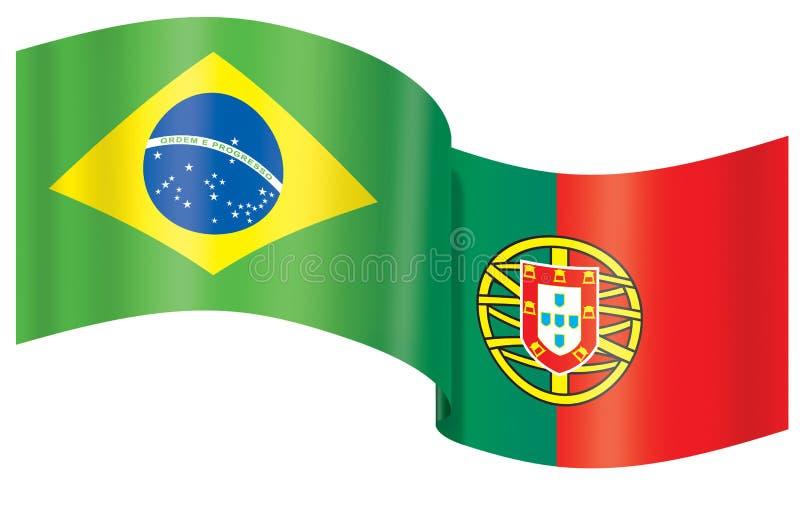 σημαία Πορτογαλία της Βρ&alph απεικόνιση αποθεμάτων