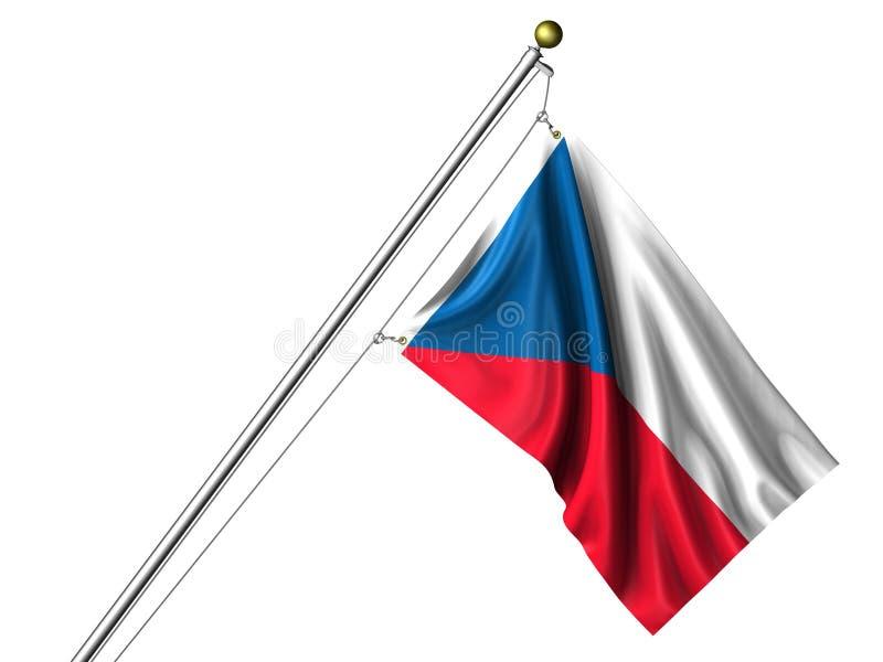 σημαία που απομονώνεται τσεχική απεικόνιση αποθεμάτων