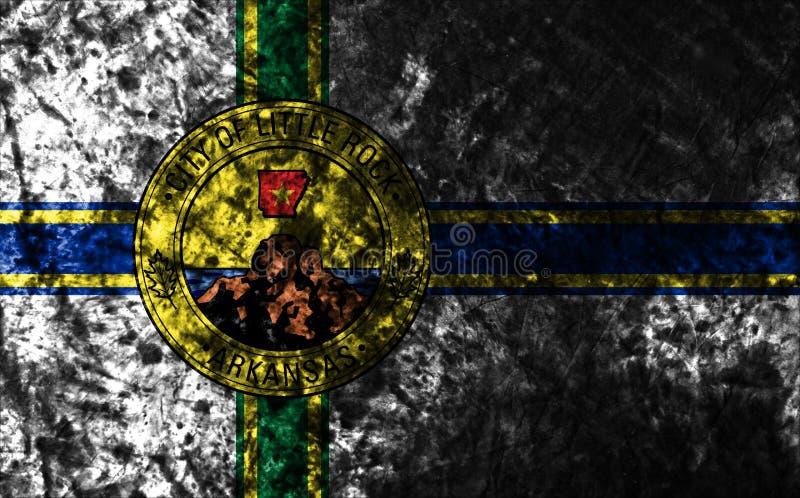 Σημαία πόλεων Λιτλ Ροκ grunge, κράτος του Αρκάνσας, Πολιτεία του AM στοκ φωτογραφία με δικαίωμα ελεύθερης χρήσης