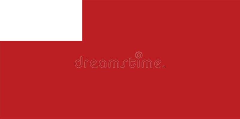 Σημαία πόλεων του Αμπού Ντάμπι, κωμόπολη των Ηνωμένων Αραβικών Εμιράτων, Ασία ελεύθερη απεικόνιση δικαιώματος