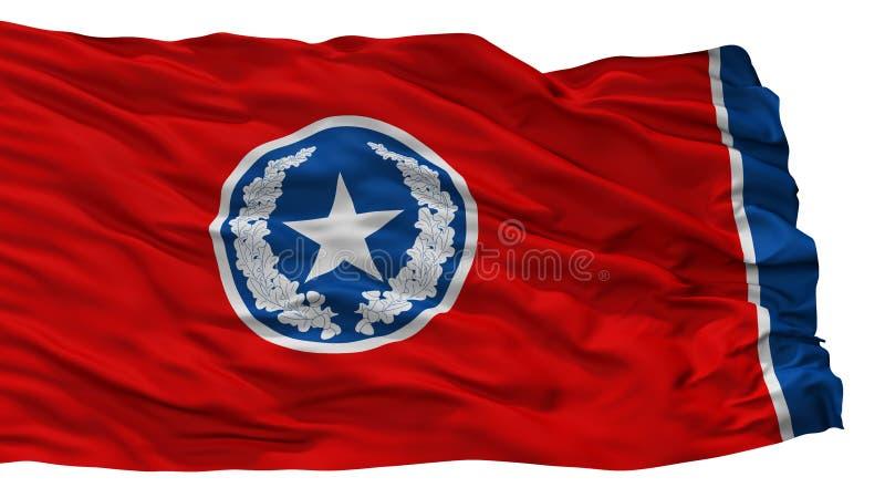 Σημαία πόλεων του Σατανούγκα, ΗΠΑ, που απομονώνονται στο άσπρο υπόβαθρο ελεύθερη απεικόνιση δικαιώματος