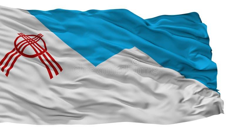 Σημαία πόλεων Osh, Κιργιστάν, που απομονώνεται στο άσπρο υπόβαθρο απεικόνιση αποθεμάτων