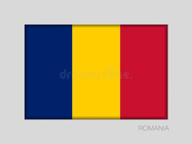 σημαία Ρουμανία Εθνικός Ensign λόγος διάστασης 2 έως 3 σε γκρίζο διανυσματική απεικόνιση