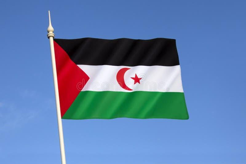 σημαία Σαχάρα δυτική στοκ εικόνα