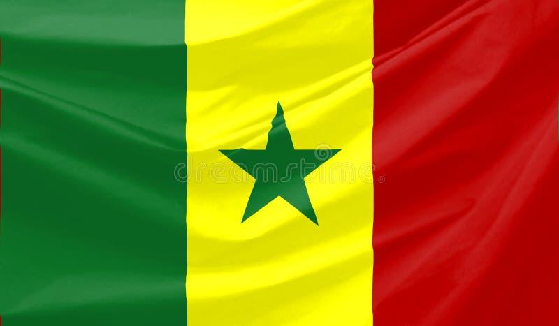 σημαία Σενεγάλη απεικόνιση αποθεμάτων