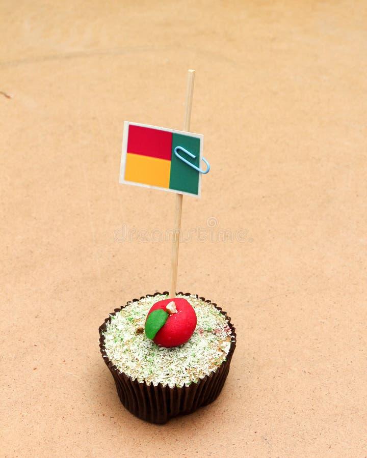 Σημαία σε ένα μήλο cupcake, Μπενίν στοκ εικόνες με δικαίωμα ελεύθερης χρήσης
