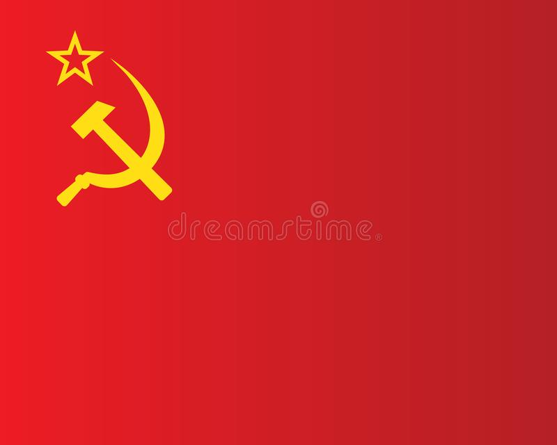 σημαία Σοβιετική Ένωση διανυσματική απεικόνιση