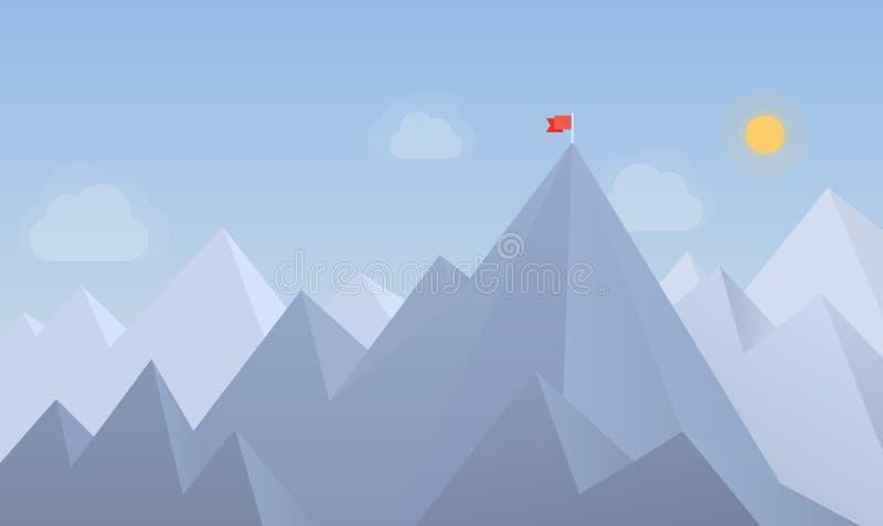 Σημαία στη μέγιστη απεικόνιση απεικόνιση αποθεμάτων