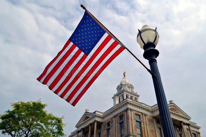 Σημαία στο Οχάιο στοκ φωτογραφία
