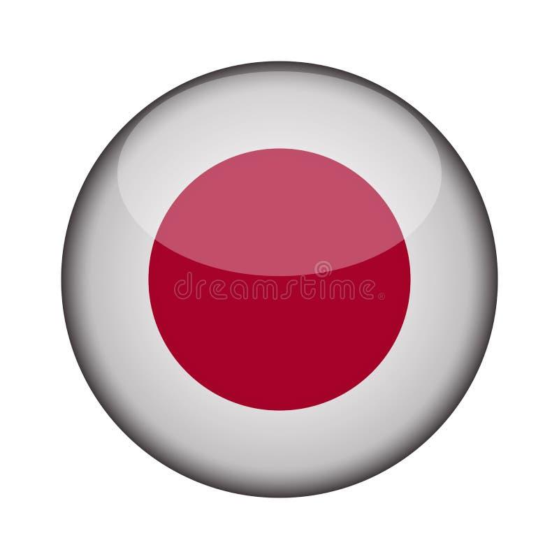 Σημαία στο στιλπνό στρογγυλό κουμπί του εικονιδίου διανυσματική απεικόνιση