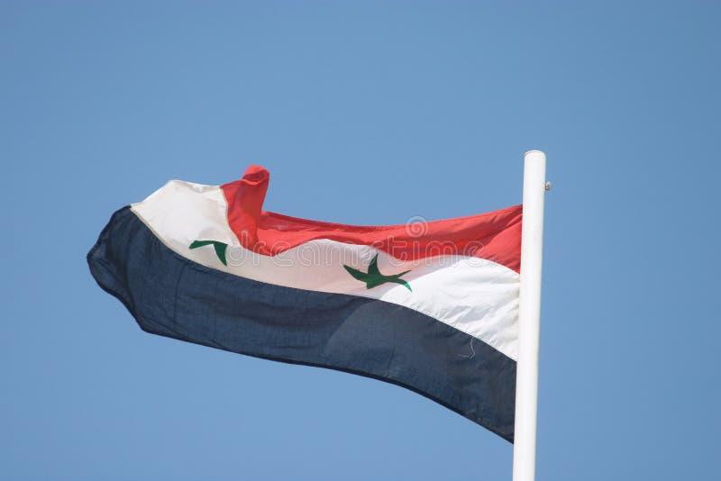 σημαία Σύριος στοκ εικόνες