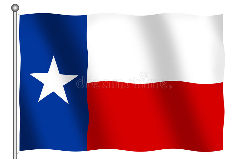 σημαία Τέξας διανυσματική απεικόνιση