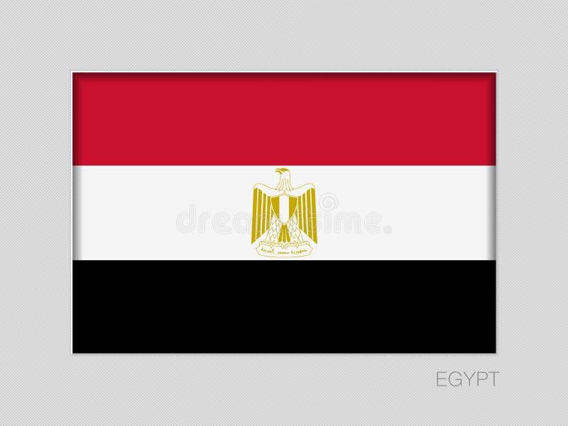 Σημαία της Αιγύπτου Εθνικός Ensign λόγος διάστασης 2 έως 3 στο γκρίζο χαρτόνι ελεύθερη απεικόνιση δικαιώματος