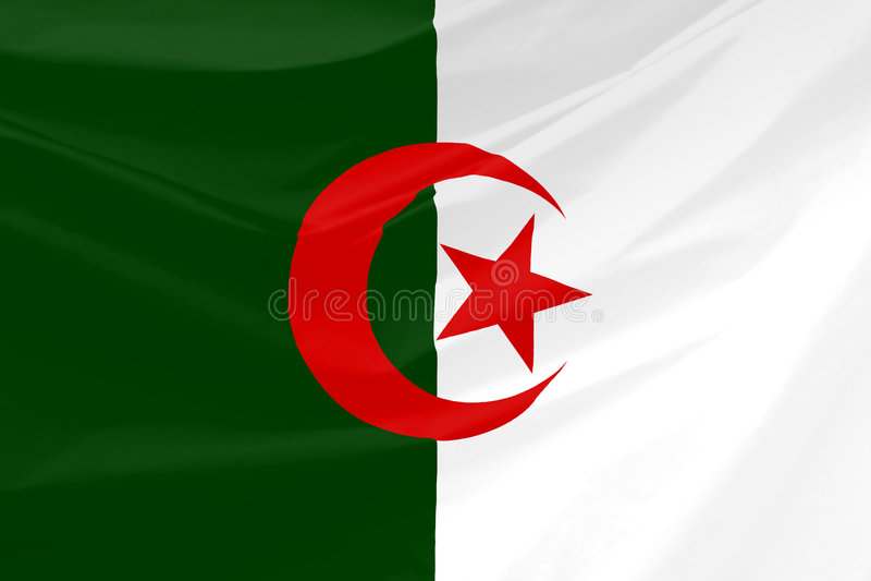 σημαία της Αλγερίας κυμ&alpha διανυσματική απεικόνιση