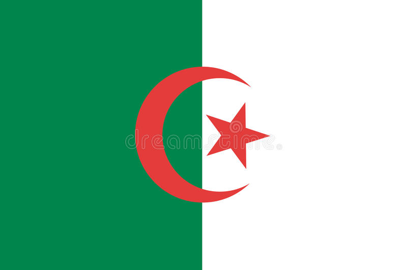 σημαία της Αλγερίας ελεύθερη απεικόνιση δικαιώματος
