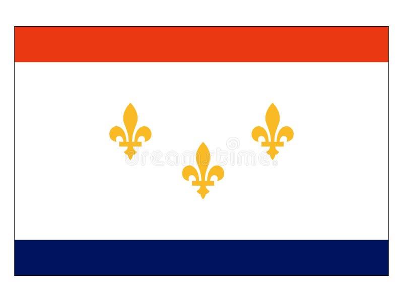 Σημαία της ΑΜΕΡΙΚΑΝΙΚΗΣ πόλης της Νέας Ορλεάνης, Λουιζιάνα διανυσματική απεικόνιση