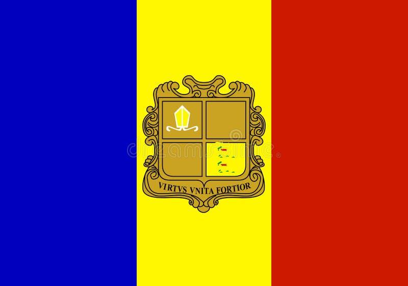 σημαία της Ανδόρρας διανυσματική απεικόνιση