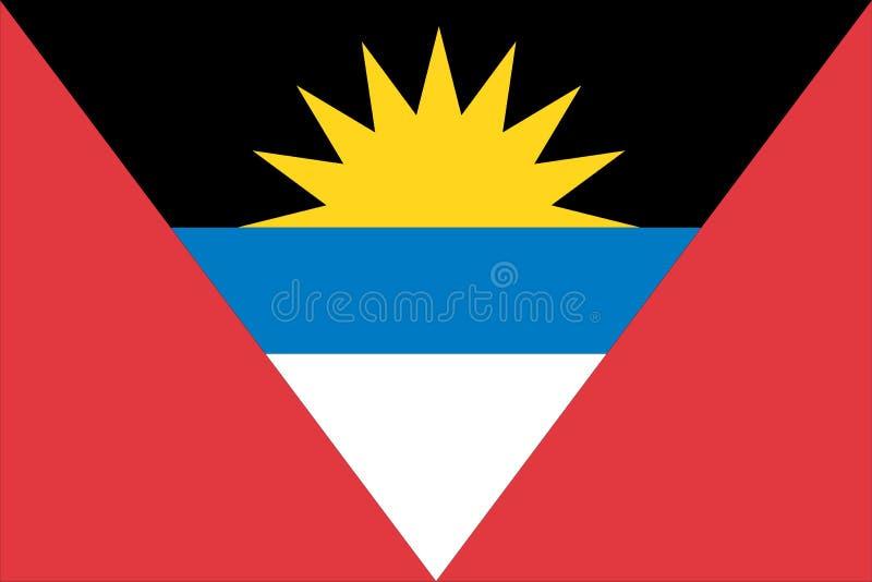 σημαία της Αντίγουα Μπαρμπούντα διανυσματική απεικόνιση