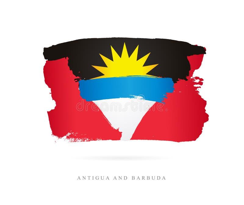 σημαία της Αντίγουα Μπαρμπ& απεικόνιση αποθεμάτων