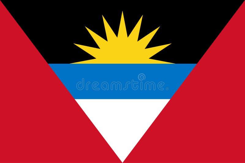 σημαία της Αντίγουα Μπαρμπ& ελεύθερη απεικόνιση δικαιώματος