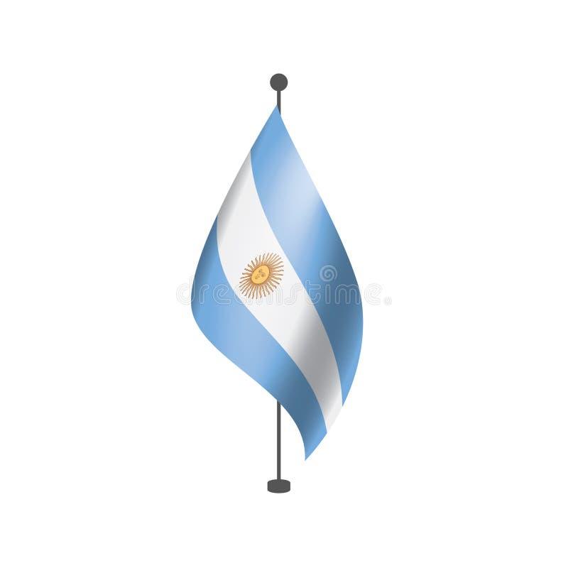 Σημαία της Αργεντινής, διανυσματική απεικόνιση σε ένα άσπρο υπόβαθρο απεικόνιση αποθεμάτων