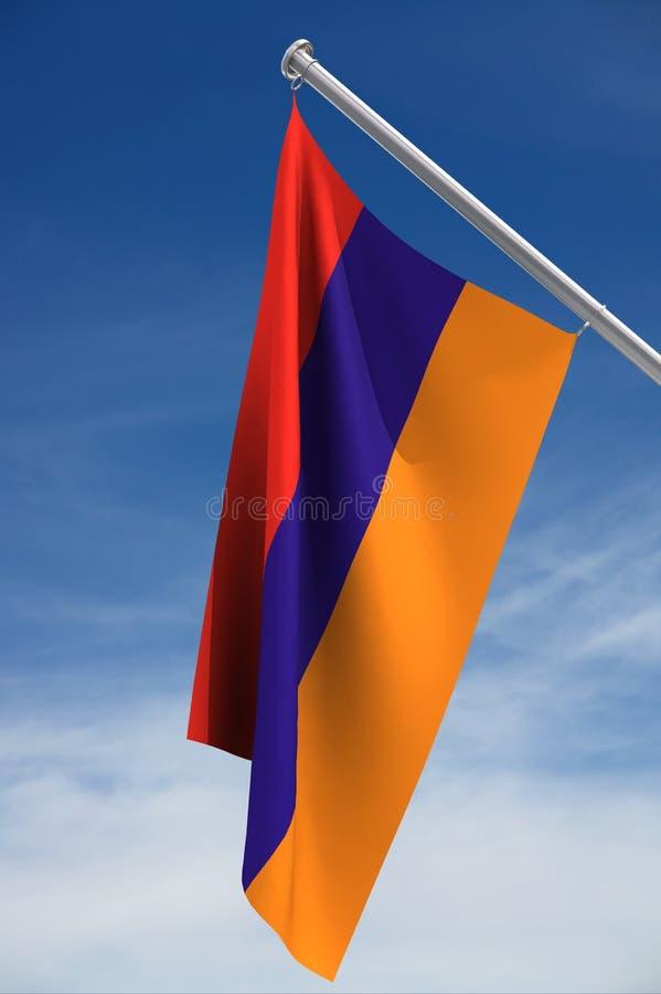 σημαία της Αρμενίας στοκ εικόνες με δικαίωμα ελεύθερης χρήσης