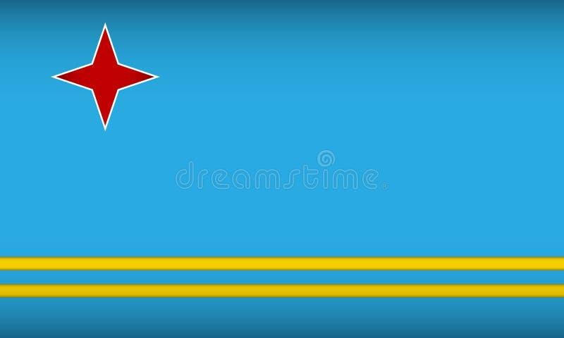 Σημαία της Αρούμπα απεικόνιση αποθεμάτων