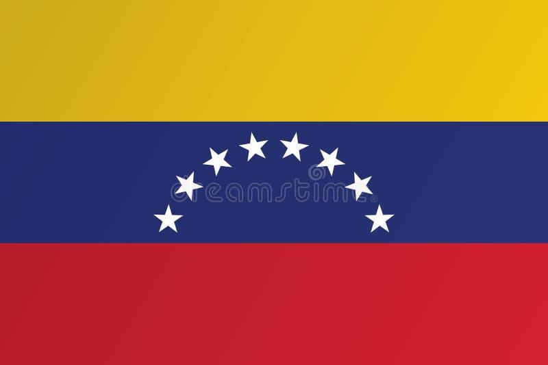 Σημαία της Βενεζουέλας διανυσματικό eps10 σημαία eps10 της Βενεζουέλας διανυσματική απεικόνιση