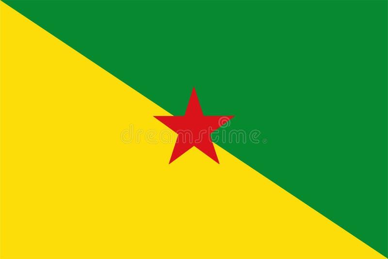 Σημαία της γαλλικής Γουιάνας διανυσματική απεικόνιση
