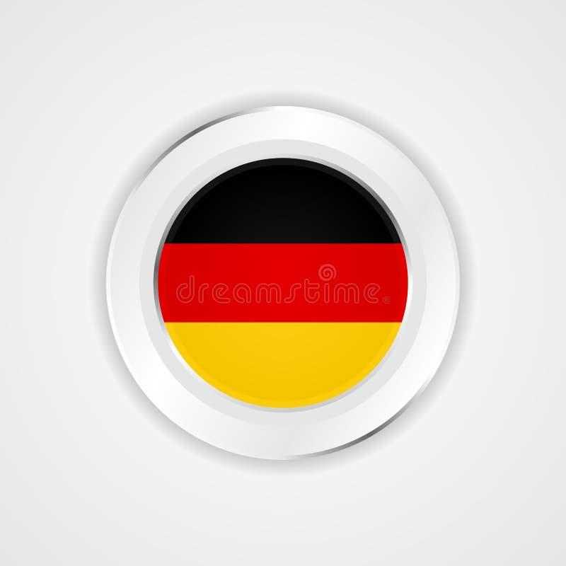 Σημαία της Γερμανίας στο στιλπνό εικονίδιο ελεύθερη απεικόνιση δικαιώματος