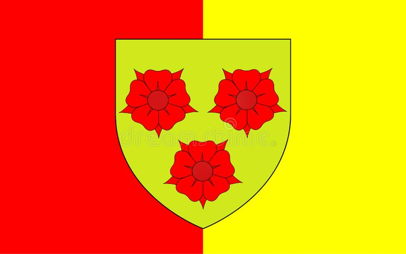 Σημαία της Γκρενόμπλ, Γαλλία στοκ εικόνες με δικαίωμα ελεύθερης χρήσης