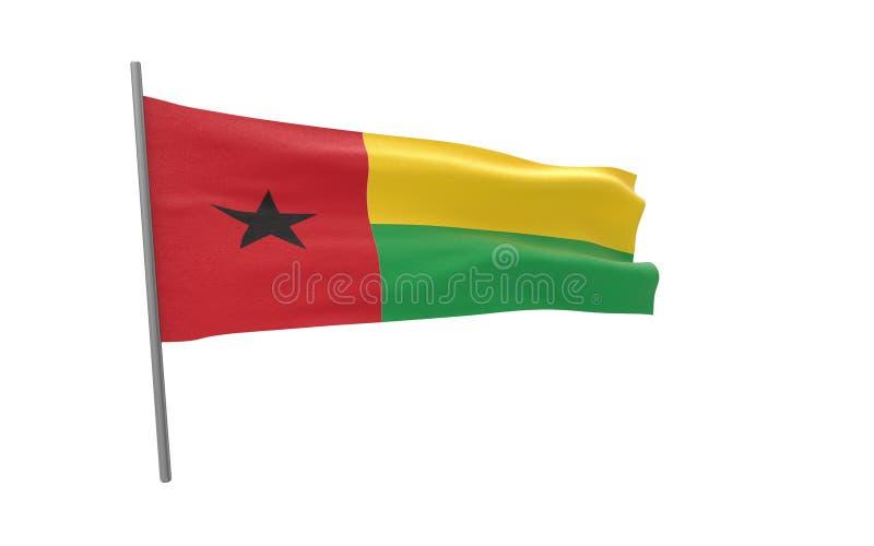 Σημαία της Γουινέα-Μπισσάου ελεύθερη απεικόνιση δικαιώματος