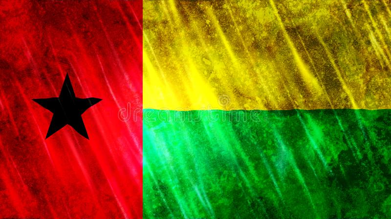 Σημαία της Γουινέα-Μπισσάου απεικόνιση αποθεμάτων