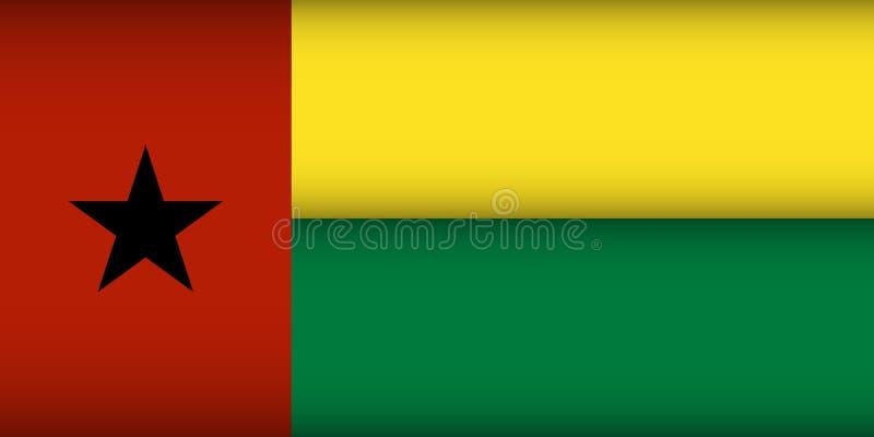 Σημαία της Γουινέα-Μπισσάου διανυσματική απεικόνιση