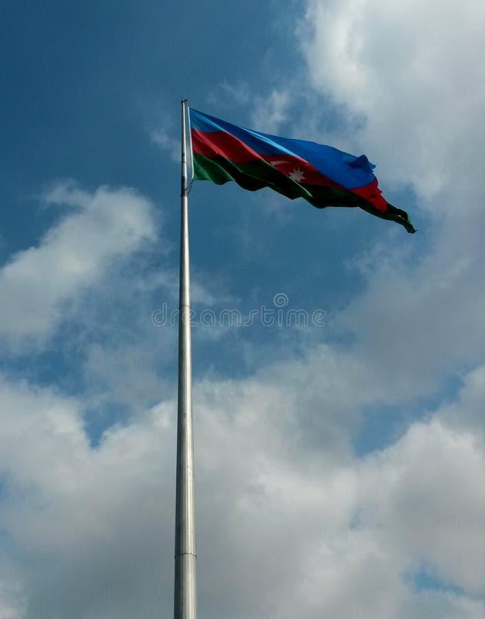 Σημαία της Δημοκρατίας του Αζερμπαϊτζάν στοκ εικόνες