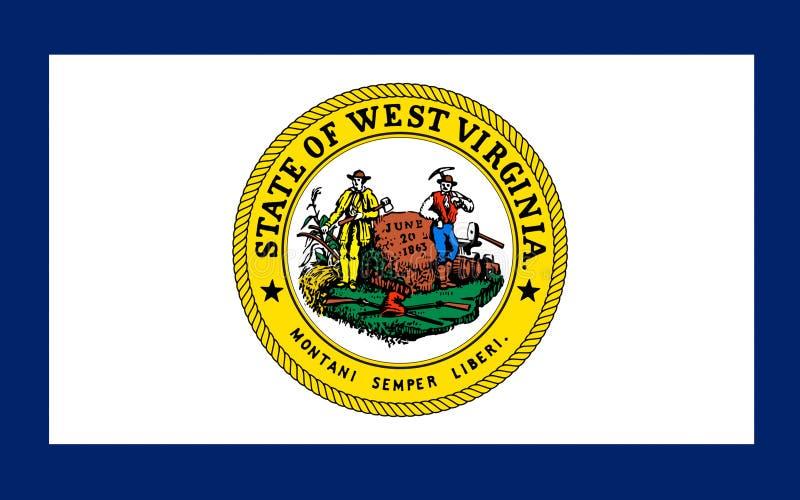 Σημαία της δυτικής Βιρτζίνια, ΗΠΑ στοκ εικόνες με δικαίωμα ελεύθερης χρήσης