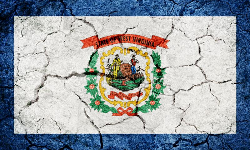 Σημαία της δυτικής Βιρτζίνια στοκ φωτογραφίες