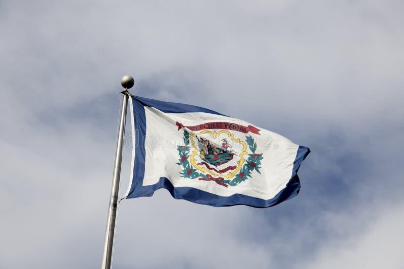 Σημαία της δυτικής Βιρτζίνια στοκ εικόνα