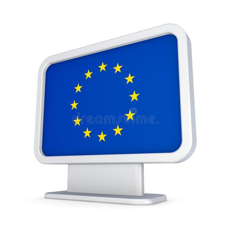 Σημαία της ΕΕ σε ένα lightbox. απεικόνιση αποθεμάτων