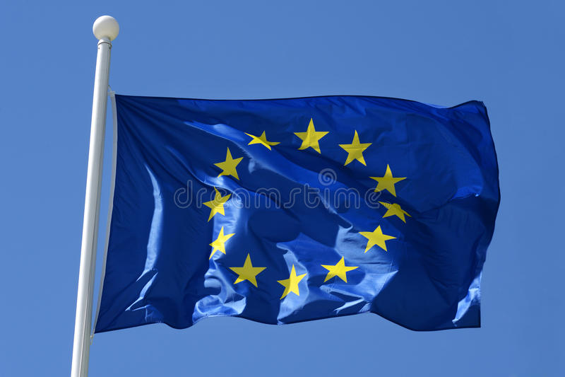 Σημαία της Ευρωπαϊκής Ένωσης στοκ φωτογραφίες με δικαίωμα ελεύθερης χρήσης