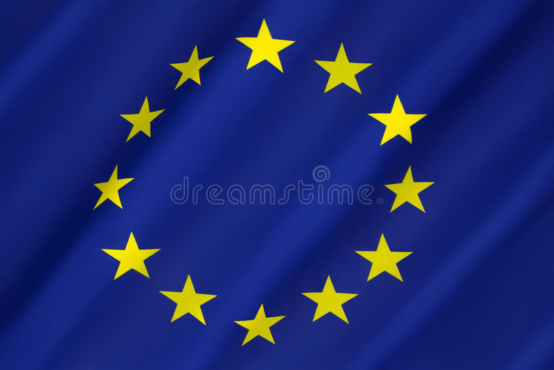 Σημαία της Ευρώπης - Ευρωπαϊκή Ένωση στοκ εικόνα με δικαίωμα ελεύθερης χρήσης
