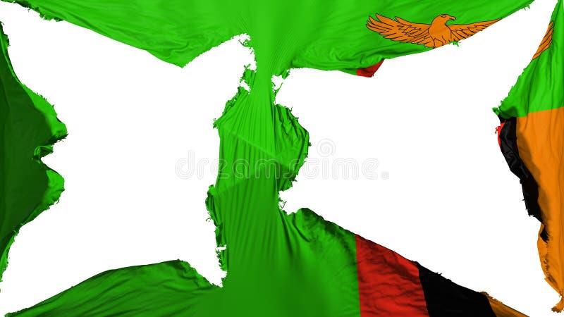 Σημαία της Ζάμπια απεικόνιση αποθεμάτων