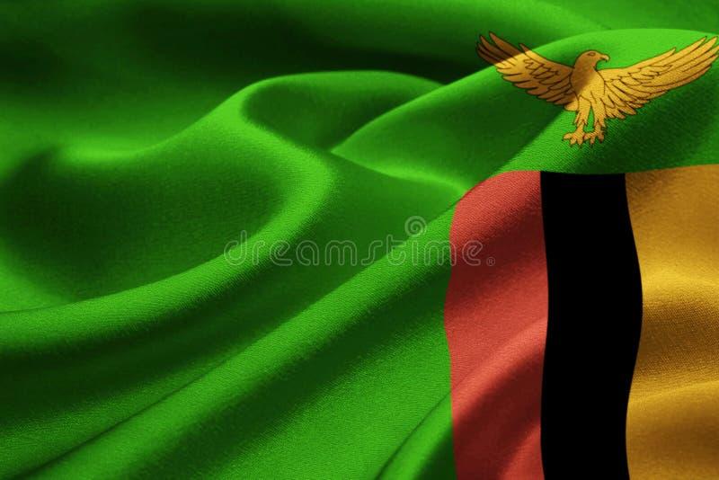 Σημαία της Ζάμπια στοκ εικόνες με δικαίωμα ελεύθερης χρήσης